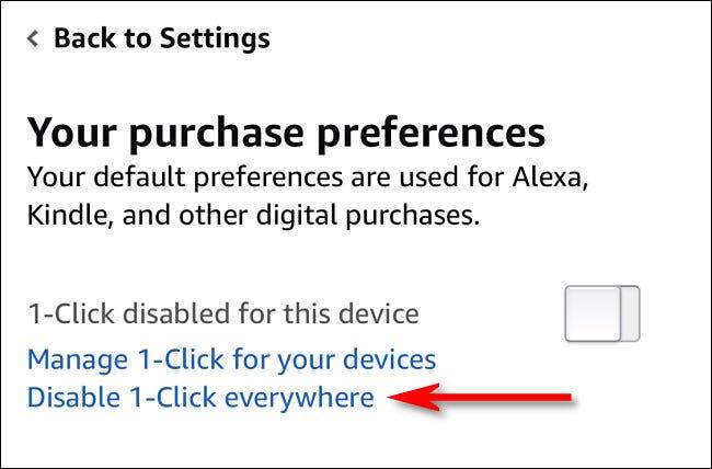 """Tippen Sie auf """"1-Klick überall deaktivieren""""."""