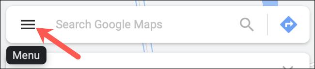Klicken Sie im Feld Google Maps suchen auf Menü
