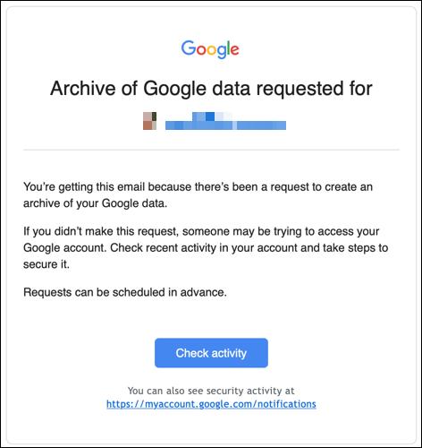 Datenexport-E-Mail