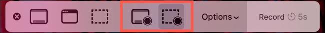 Wählen Sie eine Bildschirmaufnahmetaste
