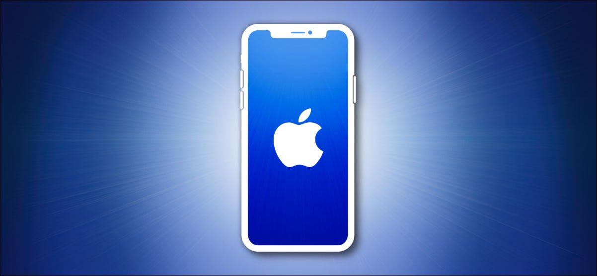 Apple iPhone Outline auf Blau