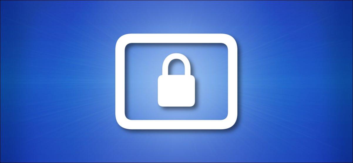 Apple Lock Screen Icon auf blauem Grund