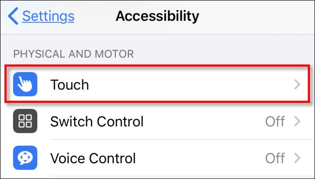 Tippen Sie in den Einstellungen auf dem iPhone oder iPad auf Berühren