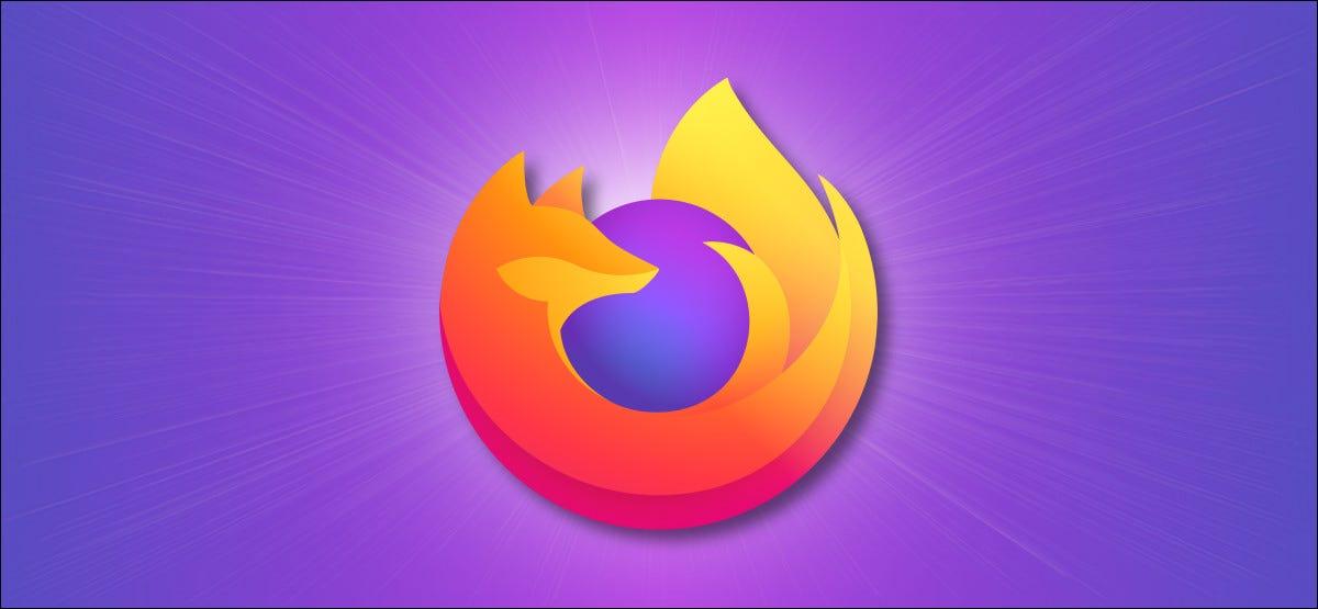 Firefox-Logo auf lila Hintergrund.