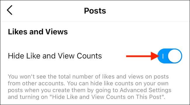 """Aktivieren Sie """"Hide Like"""" und """"Video Counts""""."""