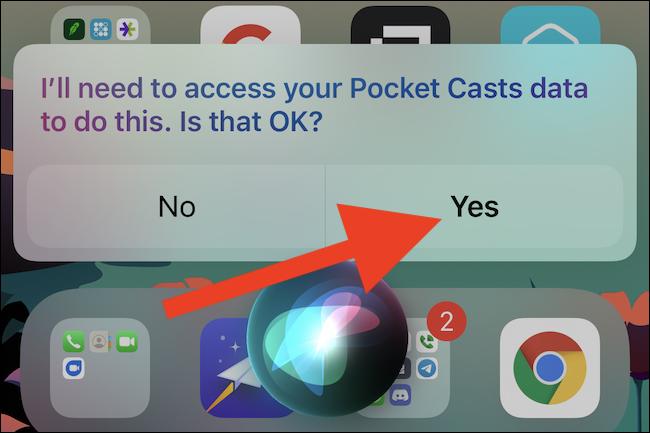 Einige Apps erfordern, dass Sie Siri Zugriff gewähren
