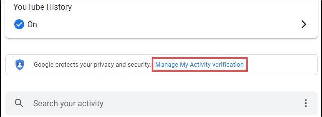 """Klicken Sie auf """"Verifizierung meiner Aktivitäten verwalten""""."""