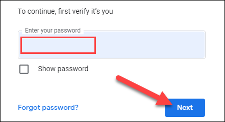 """Melden Sie sich bei Ihrem Google-Konto an und klicken Sie auf """"Weiter""""."""