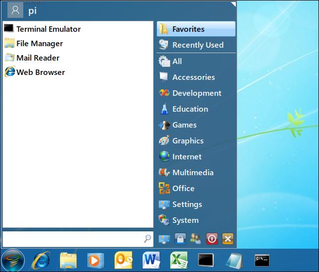 Twister OS Windows 7 Theme Systemmenü