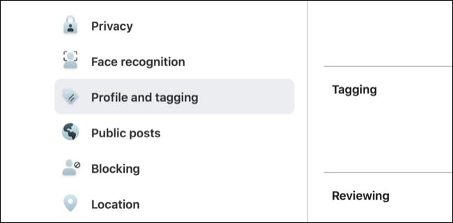 Greifen Sie auf Facebook-Profil- und Tagging-Einstellungen zu