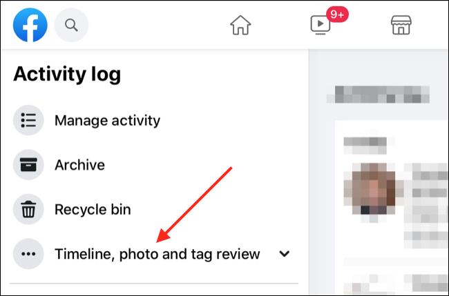 Facebook-Aktivitätsprotokoll über Webbrowser
