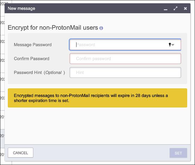 Sichere E-Mail mit einem Passwort