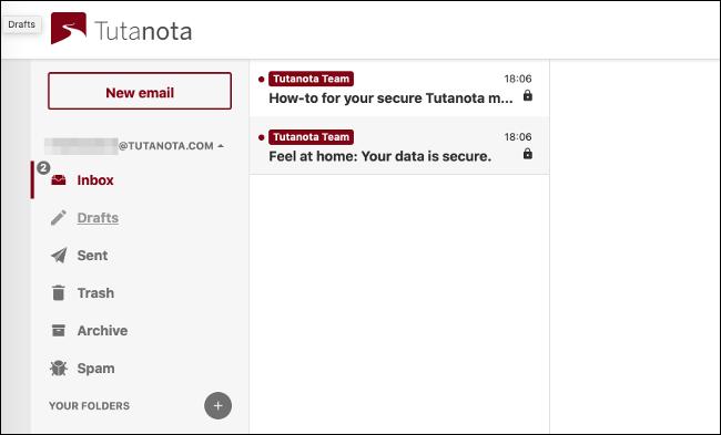 Tutanota-Posteingang