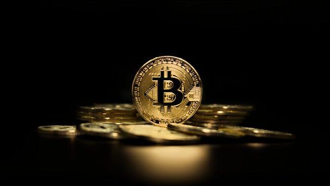 Ein Haufen Bitcoins