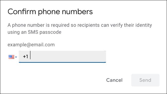 Handynummer für SMS-Verifizierung angeben