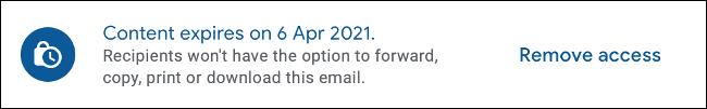 Entfernen Sie den Zugriff auf E-Mails, die über den vertraulichen Modus in Gmail gesendet wurden