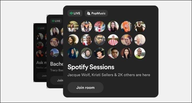 Räume Spotify-Sitzungen