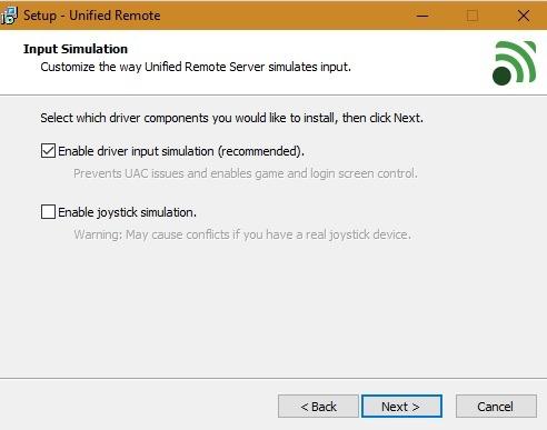 Unified Remote-Treiber für Android-Maus