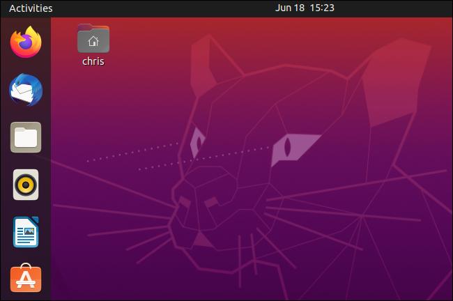 Der Desktop von Ubuntu 20.04