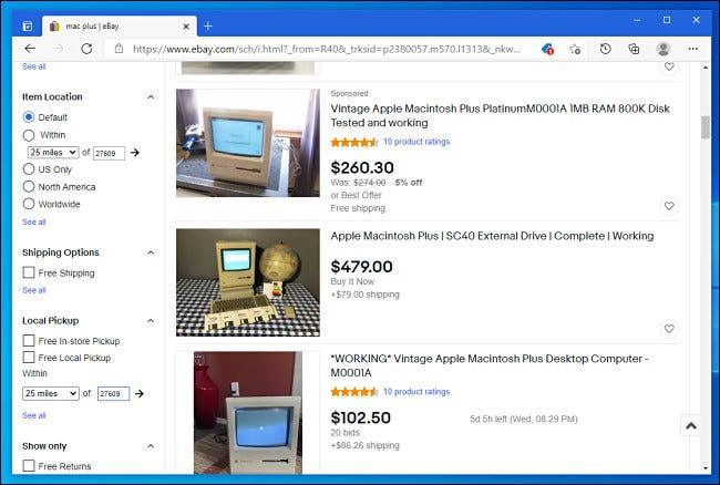 Suche bei eBay nach alten Computern.