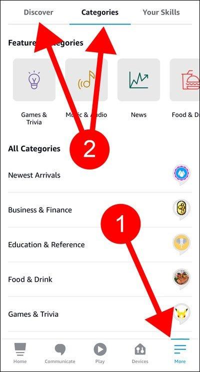Alexa-App-Skills und -Spiele