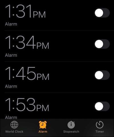 IPhone-Alarme