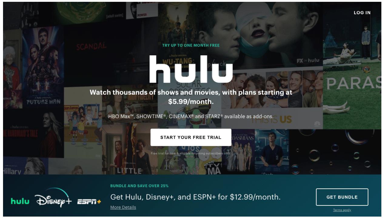 Hulu-Landingpage-CTA