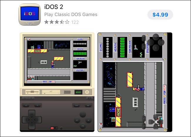 Der iDOS 2-Eintrag im Apple App Store.