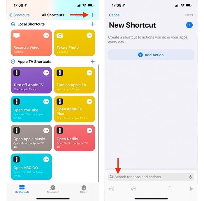 Siri-Kurzbefehle erstellen Neu erstellen