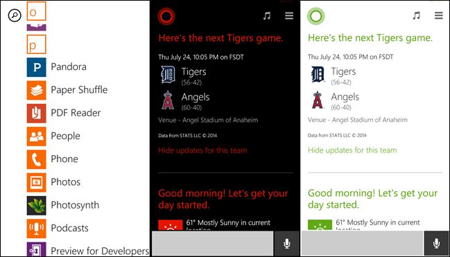 Windows Phone-Apps mit Farben.