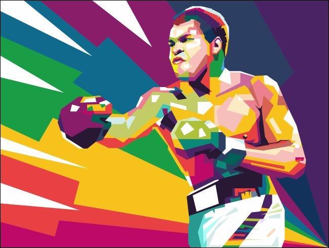 Kunst von Muhammed Ali.