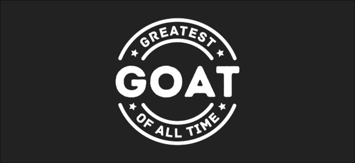 """Ein """"GOAT""""-Logo."""