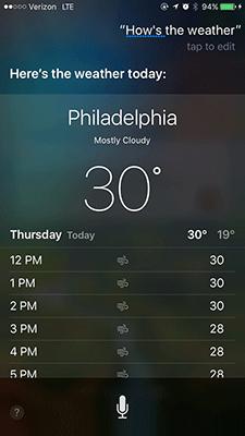 Siri-Check-Wetter