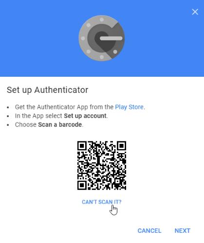 Google Authenticator-Code-Scan