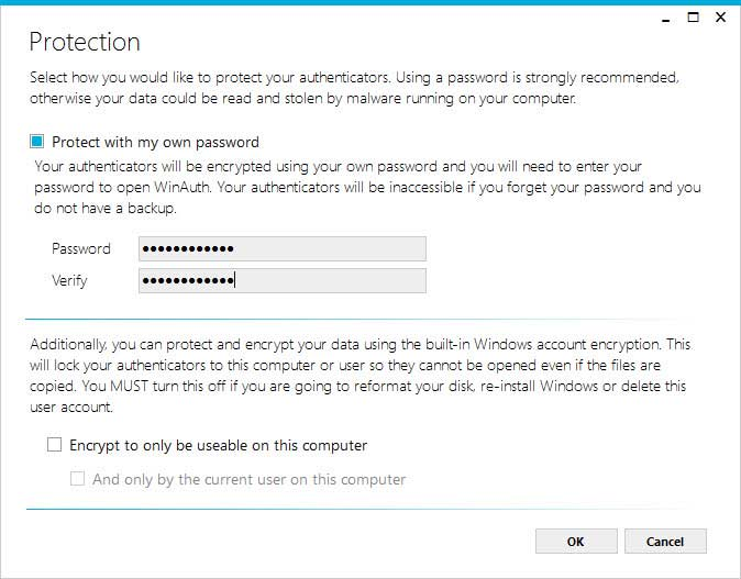 Legen Sie ein Kennwort fest, um die gespeicherten Dateien zu verschlüsseln.