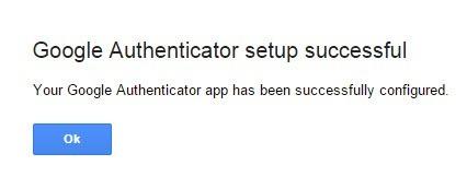 Google zeigt Ihnen eine Bestätigung an.
