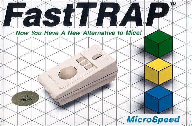 Der FastTRAP-Trackball von 1987 enthielt ein Rad zur Steuerung der Z-Achse.