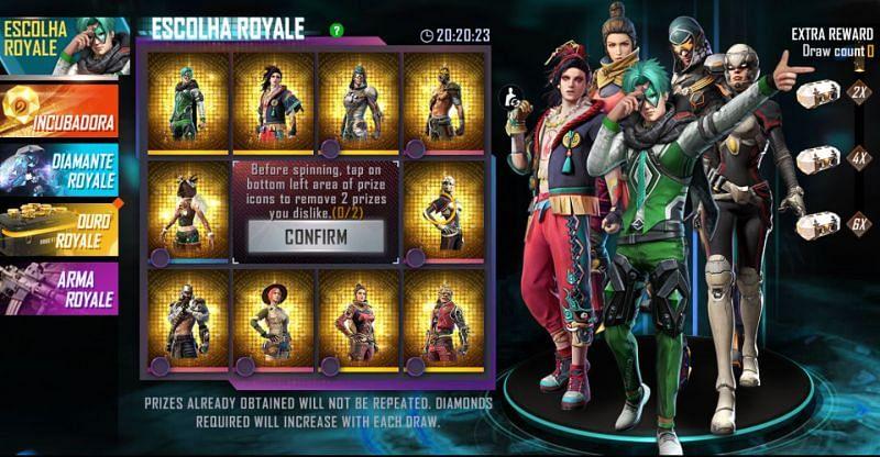 Die Escolha Royale auf dem Server von Free Fire Brazil (Bild über Free Fire)