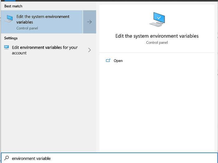 Suche nach Windows-Pfadsystemeigenschaften