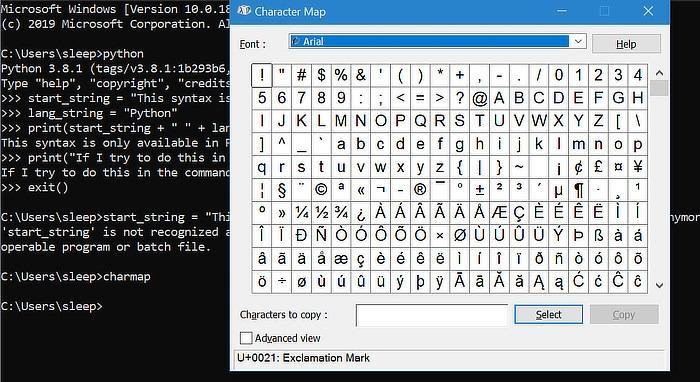 Windows Path Charmap-Start