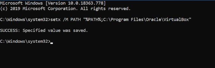 Windows Path Cmd Setx