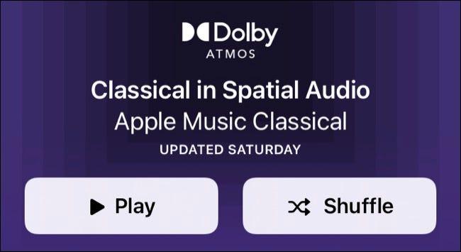 Apple Music Spatial Audio Klassische Playlist