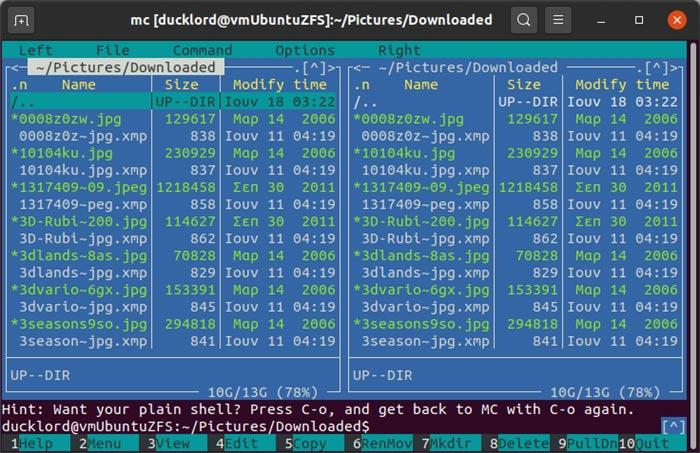 Archive mit Mc Interface verwalten