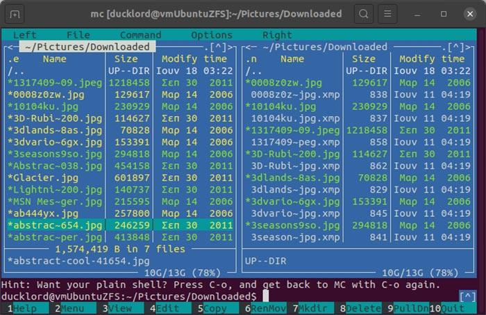Archive mit Mc Select Files verwalten
