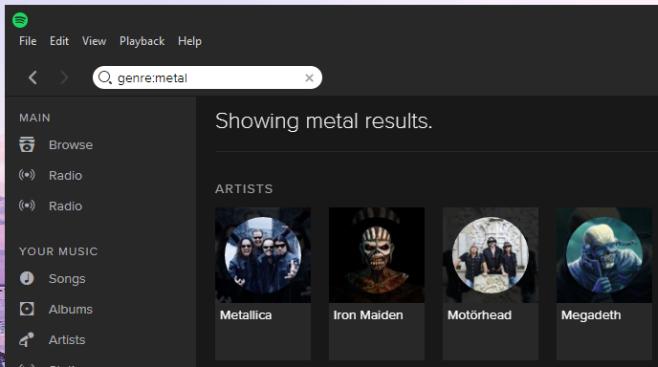 Spotify-Genre-Label-Suche