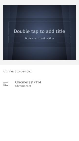 Google Slides-Chromecast
