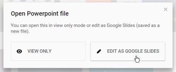 Google Präsentationen - konvertieren