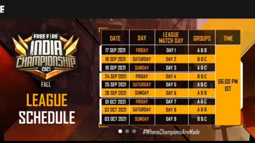 Free Fire India Championship