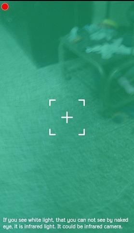 Infrarot-Detektor mit versteckter Kamera
