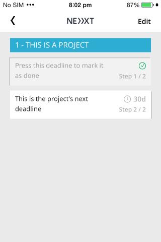 Nächste Deadline-Aufgabe